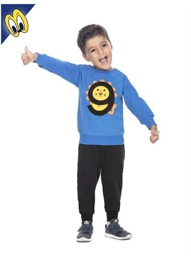 Toontoy Toontoy 9 Aslan Nakışlı 86Cm Boy Renkli Erkek Çocuk Eşofman Takım Saks